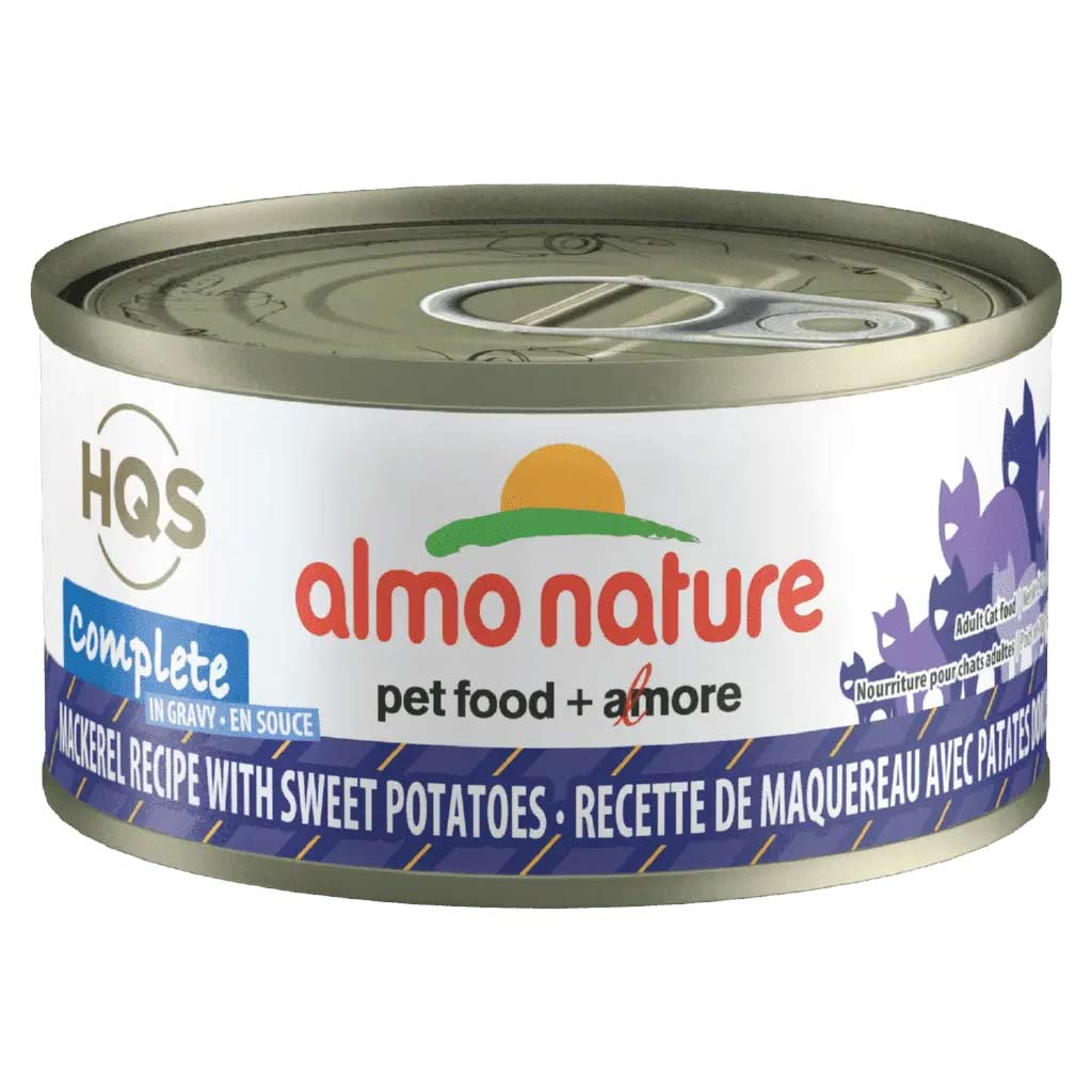ALMO NATURE HQS CAT 70G COMPLETE MACKEREL WITH SWEET POTATO IN GRAVY