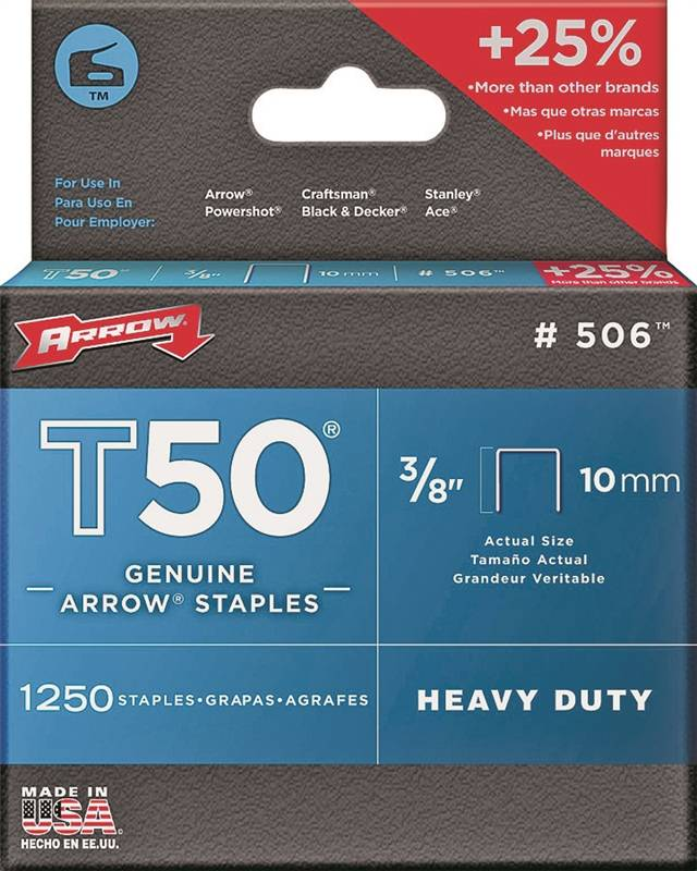 ARROW HEAVY DUTY 3/8IN STAPLE REFILL BOX